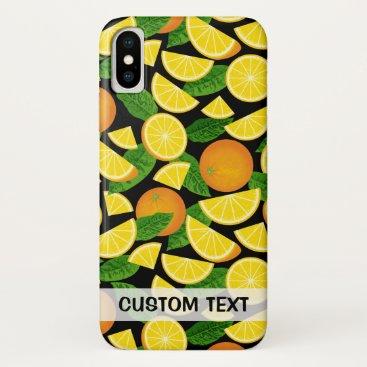 Orange Background iPhone X Case
