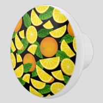 Orange Background Ceramic Knob