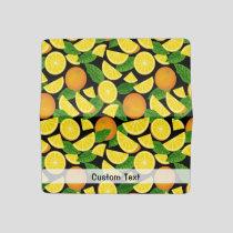 Orange Background Checkbook Cover