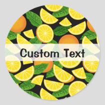 Orange Background Classic Round Sticker