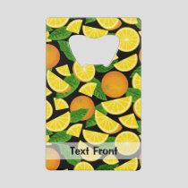 Orange Background Credit Card Bottle Opener