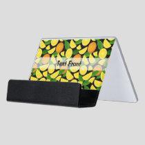 Orange Background Desk Business Card Holder