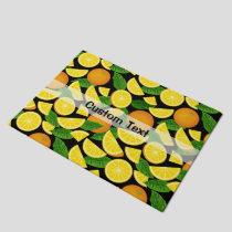 Orange Background Doormat