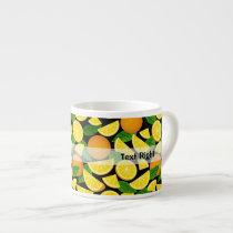 Orange Background Espresso Cup