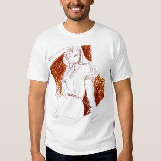 orange background fashion illustration t-shirt