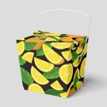 Orange Background Favor Box