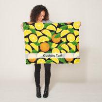 Orange Background Fleece Blanket