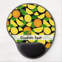 Orange Background Gel Mouse Pad
