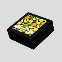 Orange Background Gift Box