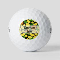 Orange Background Golf Balls