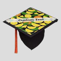 Orange Background Graduation Cap Topper