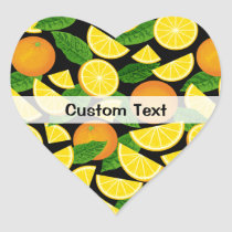 Orange Background Heart Sticker