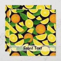 Orange Background Invitation