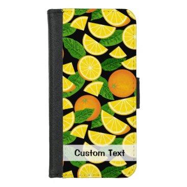 Orange Background iPhone 8/7 Wallet Case