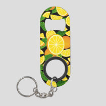 Orange Background Keychain Bottle Opener