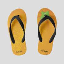 Orange Background Kid's Flip Flops