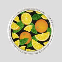 Orange Background Lapel Pin