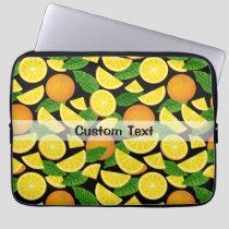 Orange Background Laptop Sleeve