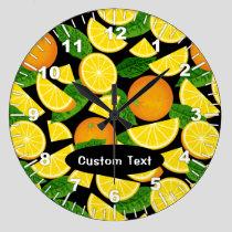 Orange Background Large Clock