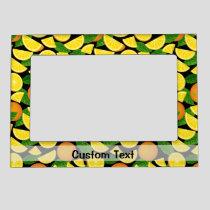Orange Background Magnetic Frame