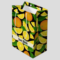 Orange Background Medium Gift Bag