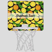 Orange Background Mini Basketball Hoop