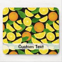 Orange Background Mouse Pad