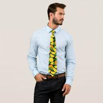 Orange Background Neck Tie