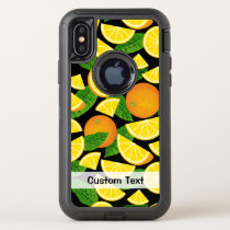 Orange Background OtterBox Defender iPhone X Case