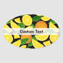 Orange Background Oval Sticker