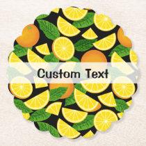 Orange Background Paper Coaster