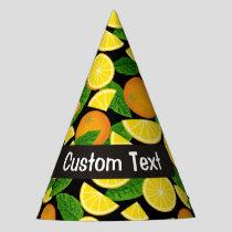 Orange Background Party Hat