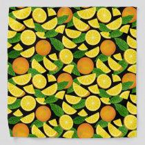 Orange Background Pattern Bandana