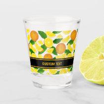 Orange Background Pattern Shot Glass