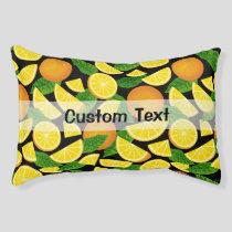 Orange Background Pet Bed