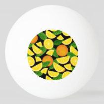 Orange Background Ping Pong Ball