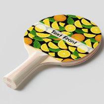 Orange Background Ping Pong Paddle