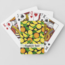 Orange Background Playing Cards