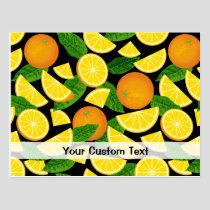 Orange Background Postcard