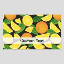 Orange Background Rectangular Sticker