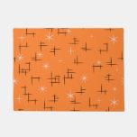 Orange Background Retro Pattern Doormat at Zazzle