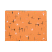 Orange Background Retro Pattern Doormat