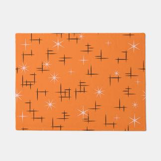 Orange Background Retro Pattern Doormat