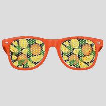 Orange Background Retro Sunglasses