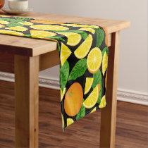 Orange Background Short Table Runner