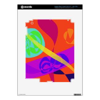 Orange Background Simple Digital Art Decals For iPad 3