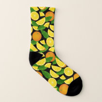 Orange Background Socks