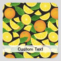 Orange Background Square Sticker