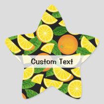 Orange Background Star Sticker