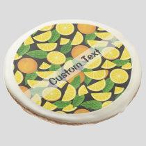 Orange Background Sugar Cookie